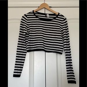 H&M Divided Crop Striped long sleeve too